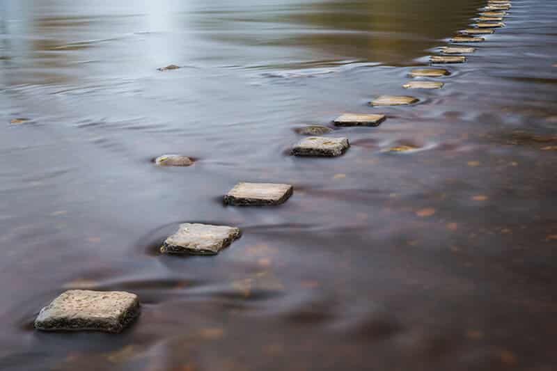 life coaching helps arrange the stepping stones of your life